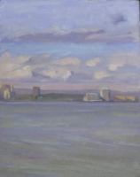 City Clouds, oil on board, 11 x 9 in.