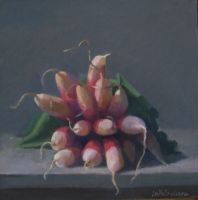 French Radishes, oil on board, 8 x 8 in.