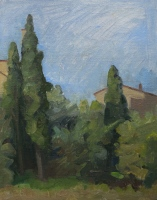 Murlo Road, Tuscany, oil on board, 10 x 8 in.