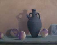 Black Jug with Turnips, oil on linen, 14 x 18 in.