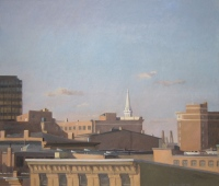 Downtown, Late Afternoon, oil on linen, 26 x 30 in.
