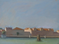Giudecca, oil on board, 7 x 9.5 in.