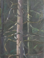 In the Woods, oil on linen, 9 x 7 in.