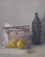 Still Life with Pears, oil on linen, 14 x 11 in.
