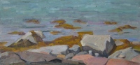 Tide's Out, oil on paper on board, 6.5 x 12.5 in.