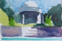 Villa America, watercolor, 4 x 6 in.