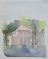 Villa Lante, watercolor, 6 x 5 in.
